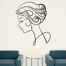 Stylish Girl Elegant Woman Wall Art Sticker Wall Decal People Faces People Places Art Female Wall Art Wall Art
