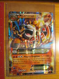 Full Art NM Pokemon Card Mega Camerupt EX XY198a Premium Trainer ...