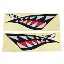 4x Shark Face Pvc Eyes Skin Sticker Decal For Dji Spark Drone Body Search Results Alexnld Com