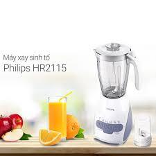 Máy xay sinh tố Philips HR2115 600W 1.5L (Trắng). Hàng chính hãng