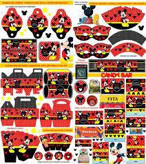 Kit Imprimible Mickey Mouse Candy Bar Invitaciones Souvenirs