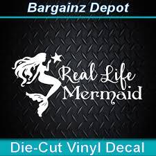 Vinyl Decal Real Life Mermaid Beach Salt Car Boat Laptop Cooler Sticker 5 47 Picclick