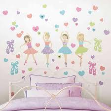 Wallpops Prima Ballerina 57 Piece Vinyl Wall Decal Set Bed Bath Beyond