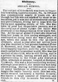 Abigail Bowman Hummel (1829-1875) - Find A Grave Memorial