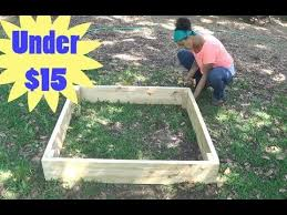 build a raised garden bed for under 15