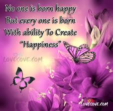 no one is born happy smile quotes images for facebook