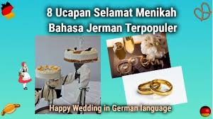 ucapan selamat menikah bahasa jerman terpopuler jermania