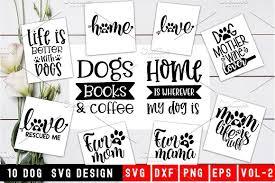 dog quotes svg design bundle vol custom designed illustrations
