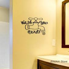 Wash Your Hands Use Soap Wall Vinyl Decal For Bathroom Waterproof Wall Stickers Water Tap Art Decal Mural Home Decoration Z039 Decals For Bathroom Vinyl Decalwall Vinyl Aliexpress