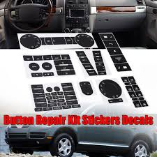 Radio Window Worn Climate Button Repair Decal Sticker Set Kit For Vw Touareg 2004 2009 Walmart Com Walmart Com