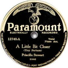 Priscilla Stewart - A Little Bit Closer / I Want To See My Baby (1929,  Shellac) | Discogs