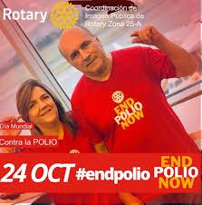 Sonia Uribe Viajando A la Ciudad de México donde Se iluminara la Catedral  con End Polio Now - Rotary Distrito 4110
