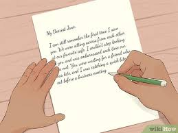 how to write a love letter with