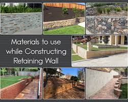 retaining wall materials used in