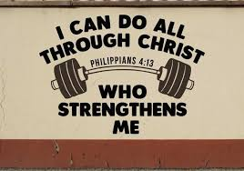 I Can Do All Through Christ Who Strengthens Me Bible Verse Gym Chur Azvinylworks