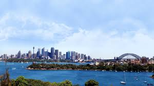 sydney harbour bridge city view