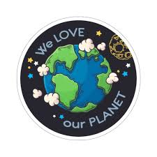 We Love Our Planet Earth Sticker Environmental Space Laptop Decal Vin Starcove Fashion