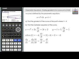 parametric equations finding the