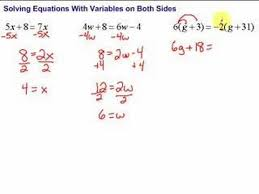 5 solving equations with variables on