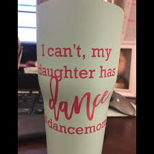 I Can T My Daughter Has Dance Decal Dance Decal Dance Etsy
