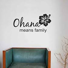 Amazon Com Battoo Ohana Family Quote Ohana Means Family Wall Decal Quote Vinyl Art Stickers Black 11 H X22 W Home Kitchen
