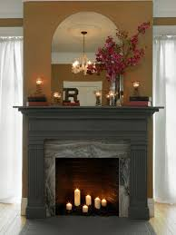 fireplace surround and make a mantel