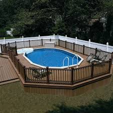 Ideas For Inground Above Ground Swimming Pool Fencing Backyard Pool Above Ground Pool Decks Swimming Pool Designs