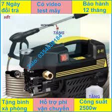 Máy xịt rửa mini - máy rửa xe sakura - 1800W, súg phun dài nửa mét - motor  từ- tự hút nước
