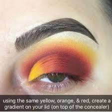 bright red half cut crease tutorial