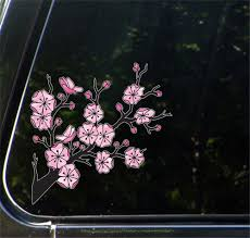 The Decal Store Com By Yadda Yadda Design Co Clr Car Cherry Blossom Branch Stained Glass Style Vinyl Car Decal