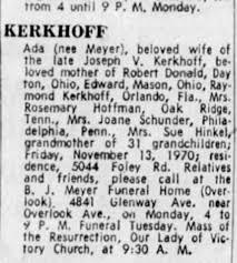 Ada Meyer Kerkhoff--Obituary - Newspapers.com