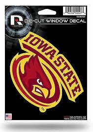 Iowa State Cyclones 5x6 Vinyl Die Cut Decal Sticker Emblem University Of For Sale Online Ebay