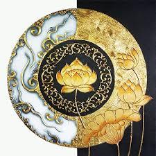 lotus abstract painting handmade