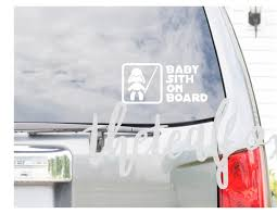 Baby Sith On Board Vinyl Decal Star Wars Dark Side New Etsy