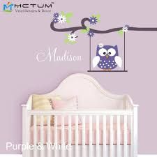 Modern Owl Wall Stickers Swing Monogram Custom Made Name Wall Decals Vinyl Wall Art Girls Nursery Bedroom Decoration Home Decor Letter Transfers For Clothes Art Figureletter Fashion Aliexpress