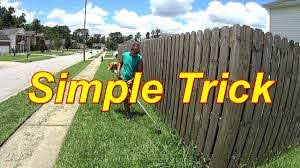 Cutting Grass Marketing Results How I Weedeat A Shadow Box Fence Without Damage Sidehustle Youtube