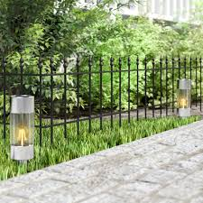Grass Lawn Fence Edge Pack Of 4 X Heavy Duty Baroque Metal Garden Border Edging