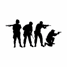 Army Shooting Team Light Switch Vinyl Wall Decal Ourboysaresoldiers Com