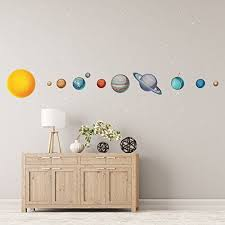 Solar System Wall Decals Large Planets Wall Stickers Planet Decals Realistic Solar System Bedroom Solar System Wall Decal Wall Stickers Planets Wall Decor