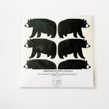 Black Bear Removable Vinyl Decal Package Vinyl Decals Bear Decal Vinyl