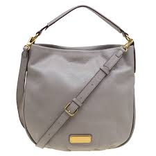 grey leather new q hillier hobo marc