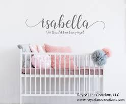 For This Child We Have Prayed Wall Decal 1 Samuel 1 27 Decal Etsy Nursery Decals Nursery Wall Decals Wall Decals