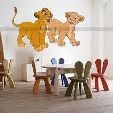 Lion King Wall Sticker Simba Nala Removable Kids Cool Disney Decal Home Atr Disney Decals Lion King Simba And Nala
