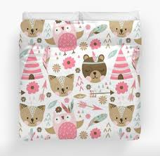 woodland nursery bedding set pink boho