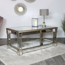 gold mirrored coffee table deco range