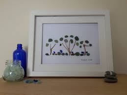 sea glass picture framed sea glass art