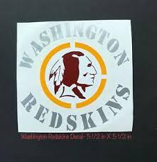 Washington Redskins Logo Vinyl Digital Cut Car Decal Sticker 5 1 2 In X 5 1