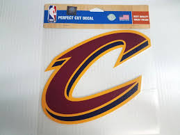 Cleveland Cavaliers Colored C Window Die Cut Decal Wincraft Sticker 8x Sports City Hats