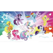 Roommates 72 In X 126 In My Little Pony Cloud Xl Chair Rail Prepasted Wall Mural 7 Panel Jl1335m The Home Depot