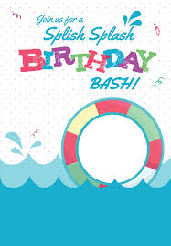 Splish Splash Pool Party Invitation Template Free Fiesta